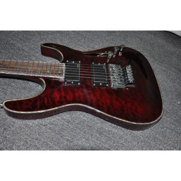 Custom Schecter Hell Raiser Diamond Red Wine Quilted Maple Top Electric Guitar