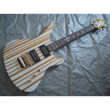Custom Schecter White Gold Electric Guitar