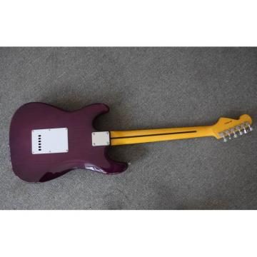 Custom Purple Fender Ehsaan Noorani Stratocaster Chrome Electric Guitar