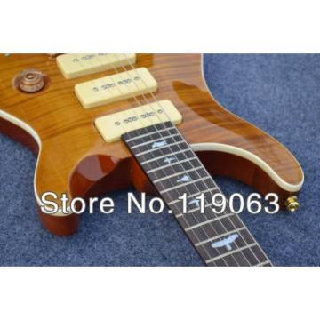 Custom PRS P90 3 Pickups Tiger Wave Electric Guitar