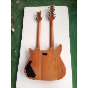 Custom PRS Double Neck Electric Guitar Purple Flame Maple Top