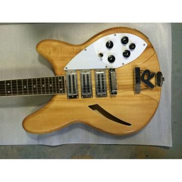 Custom Natural Rickenbacker 370 3 Pickups Electric Guitar