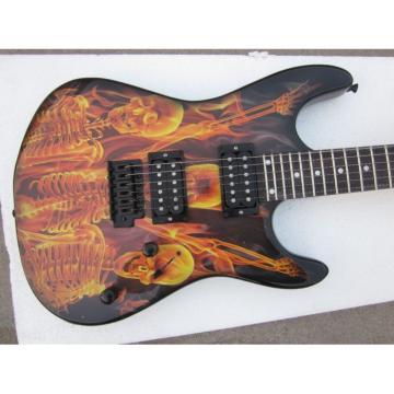 Custom Made ESP Skull Flame Skeleton Graphic Electric Guitar