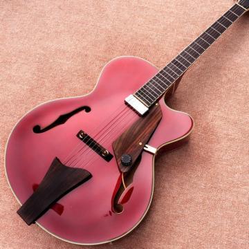 Custom L5 Jazz CES Archtop Semi Hollow Electric Guitar Burgundy