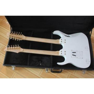 Custom JEM7V White Double Neck 6/12 Strings Electric Guitar