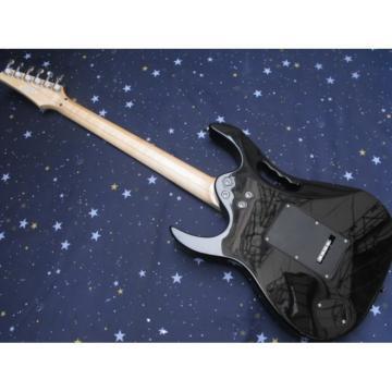 Custom Ibanez Jet Black Jem7v Electric Guitar