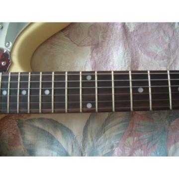 Custom Fender Cream Jaguar Electric Guitar