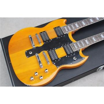 Custom Don Felder EDS 1275 SG Natural Double Neck Electric Guitar