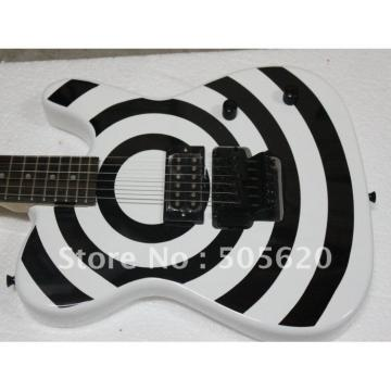 Custom Bulls Eye White Solid Electric Guitar