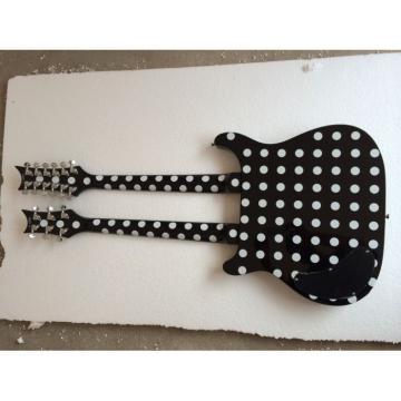 Custom Daniel Pepin Design Double Neck Electric Guitar Polka Dots Electric Guitar