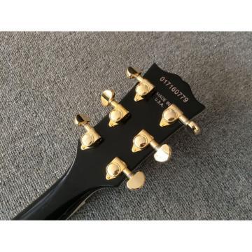Custom ES137 Florentine LP Fhole High Gloss Black Electric Guitar 4 Pcs Pickugard