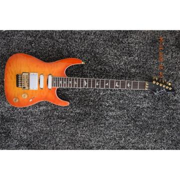 Custom Build 3 Pickups Orange Pensa Floyd Rose Electric Guitar