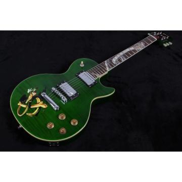Custom Build Green Abalone Snakepit Slash Inlay Fretboard Electric Guitar