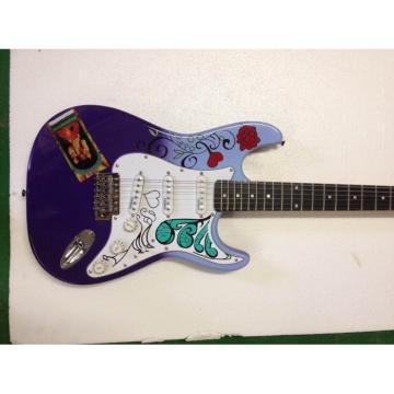Custom American Fender Jimi Hendrix Purple Sky Blue Electric Guitar