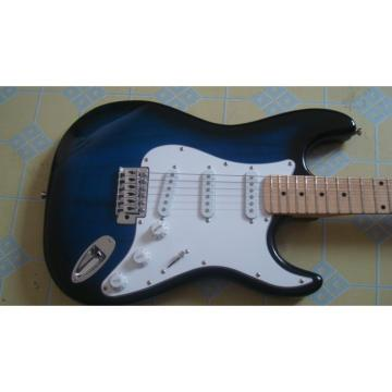Custom American Fender Blue Black Electric Guitar