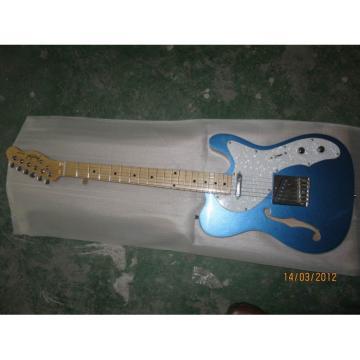 Custom Fender Telecaster Blue Semi Hollow Guitar