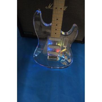 Crystal Multi Colored Plexiglass Led Acrylic Stratocaster Electric Guitar