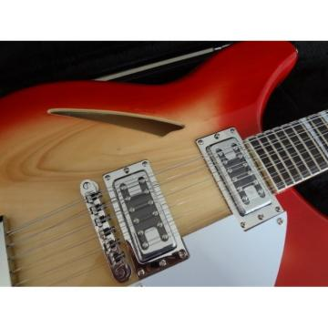 12 Strings Custom 360 2 Pickups Cherry Burst Electric Guitar