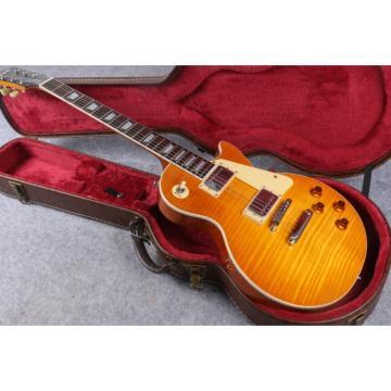 Custom Yellow Burst Maple Top Electric Guitar
