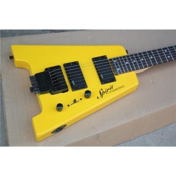 Custom Shop Yellow Monaco Steinberger Headless Electric Guitar