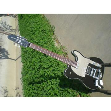 Custom Shop Telecaster Tremolo Black 6 String Electric Guitar