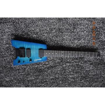 Custom Shop Blue Flame Maple Top Steinberger Headless Electric Guitar