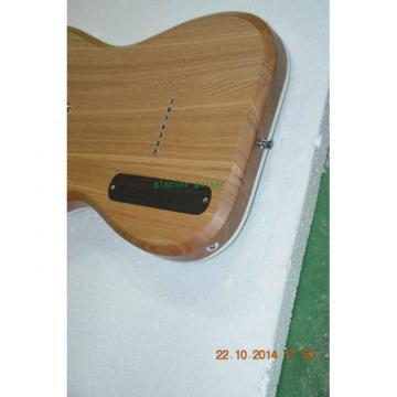 Custom Shop 7 String Transparent Blue Electric Guitar  Black Machine