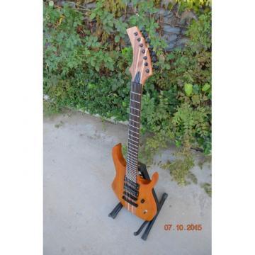 Custom Shop 7 String Honey Amber Finish Electric Guitar Black Machine