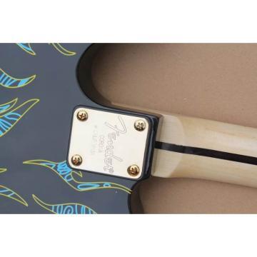 Custom Paisley Fender James Burton  Blue Fire Telecaster Electric Guitar