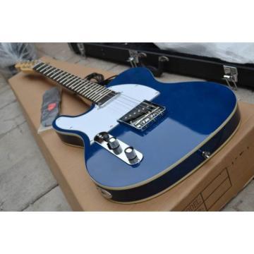 Custom Fender Left Handed Telecaster Blue Electric Guitar