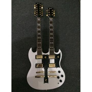 Custom Shop Don Felder EDS 1275 SG Double Neck Arctic White Gold Hardware Guitar