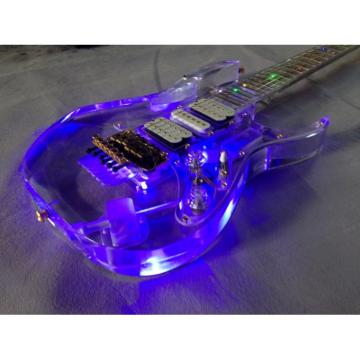 Project Acrylic Body and Neck Ibanez Jem Steve Vai Guitar Led Lights