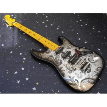 Elegant Paisley Design Fender Stratocaster Floyd Rose Tremolo Guitar Floral