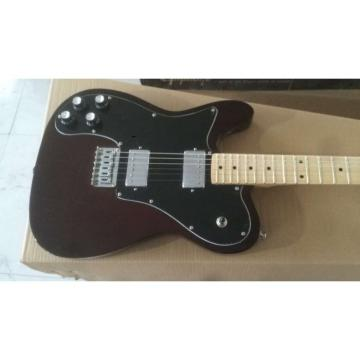 Custom Shop Fender Left Handed Brown Guitar Deluxe Strings and nut RIGHT HANDED