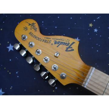 Custom Shop Fender Deluxe Yellow Orange Telecaster Guitar