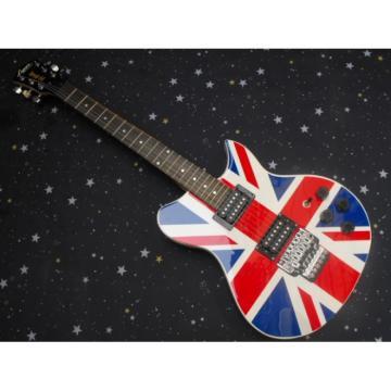 Custom British Flag Lyon Washburn Guitar