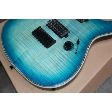 Custom Built Regius 7 String Transparent Blue Mayones Guitar