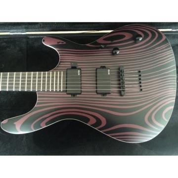 Custom Setius GTM 6 Gothic Figured Purple and Black Ash Top Mayones Guitar Katatonia
