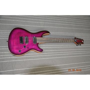 Custom Built Regius 7 String Purple Finish Setius Bolt On Mayones Guitar