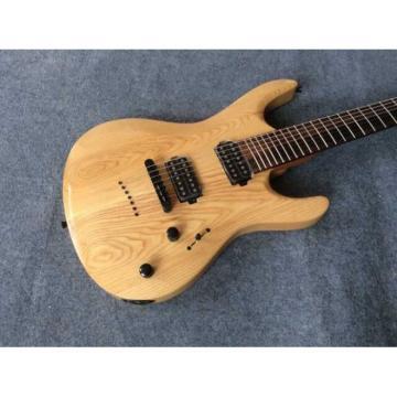 Custom Built Regius 7 String Natural Finish Mayones Guitar