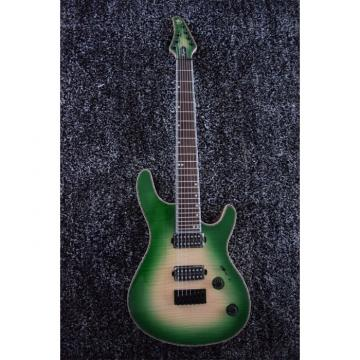 Custom Built Regius 7 String Maple Top Green Mayones Guitar Japan Parts