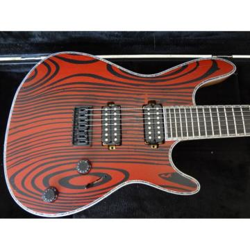 Custom GTM 7 Gothic Figured Red and Black Ash Top Mayones Guitar Japan Parts Katatonia