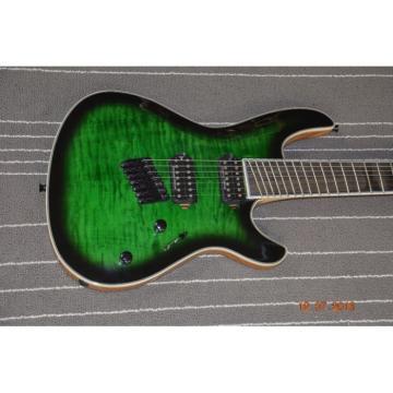 Custom Built Regius 7 String Green Quilted Duvell Bolt On Mayones Guitar