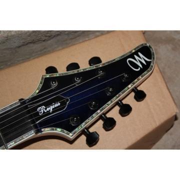 Custom Built Regius 7 String Transparent Dark Blue Mayones Guitar