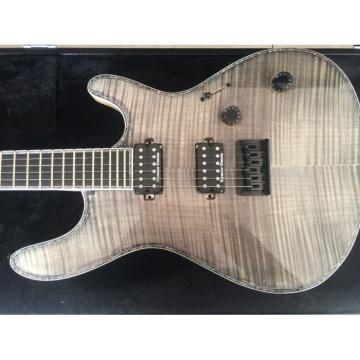 Custom Built Regius 6 String Gray Tiger Maple Top Neck Through Mayones Guitar