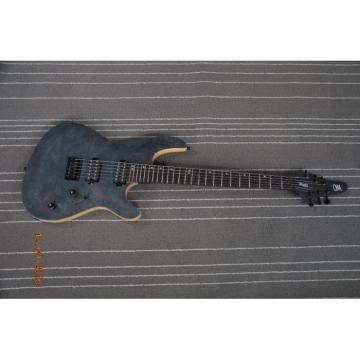 Custom Built Regius 6 String Gray Matte Neck Through Mayones Guitar