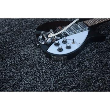 Custom Rickenbacker 325 Black Neck Through Guitar Authorized Bigsby Tremolo