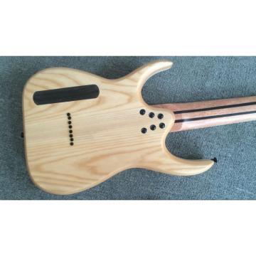 Custom Shop Black Machine 8 String Transparent Blue Maple Fretboard Guitar