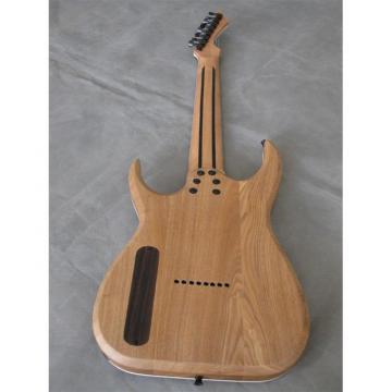 Custom Shop Black Machine 8 String Natural Wood Black Electric Guitar