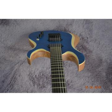 Custom Shop Black Machine 6 String Quilted Blue Maple Top Electric Guitar